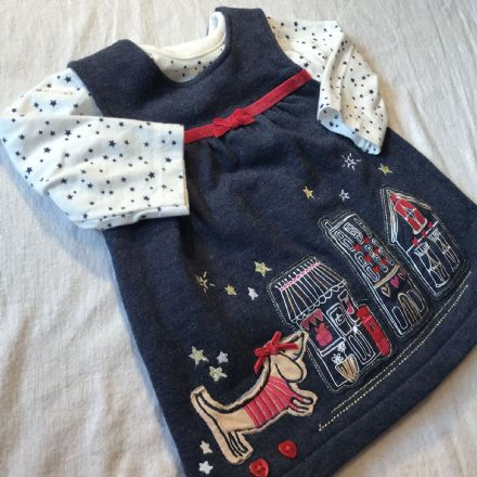 0-0 First Size Navy Dress Set